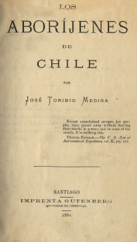 Cover of Los aboríjenes de Chile